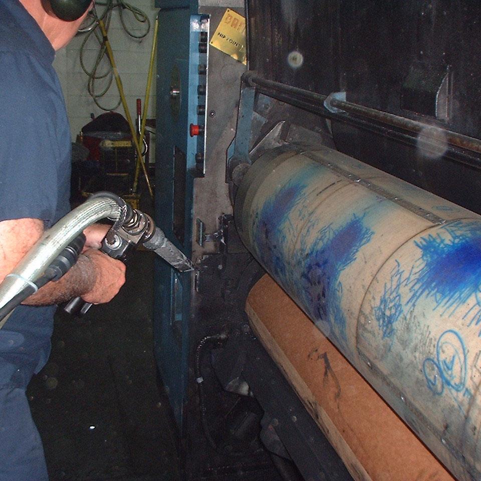 Dry Ice Blasting Printing Press